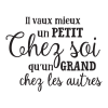 Wall Quotes™ Vinyl Decal Un Petit Chez Soi French