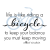like riding a bicycle wall decal