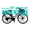 lets go on an adventure retro bike wall decal