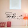 She Leaves A Sparkle Wherever She Goes