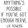 Anything's possible if you've got the nerve.