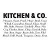 Kitchen & Co., great for any kitchen Wall Quotes™ Decal