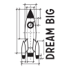 dream big rocket diagram wall decal