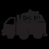 dig it dump truck kids wall decal