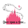 once upon a time fairytale castle wall decal