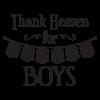 Thank Heaven Little Boys Banner Pennant Vinyl Wall Decal