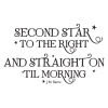Second Star to the Right Peter Pan Quote Wall Quotes Decal