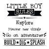 Little Boy Rules inspirational for any kids room Wall Quotes™ Decal