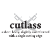 cutlass pirate definition wall decal