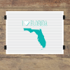 I heart Florida striped wall quotes art print