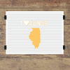 I heart Illinois striped wall quotes art print