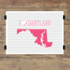 I heart Maryland striped wall quotes art print
