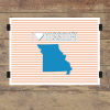 I heart Missouri striped wall quotes art print