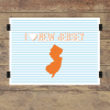 I heart New Jersey striped wall quotes art print