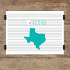 I heart Texas striped wall quotes art print
