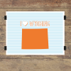 I heart Wyoming striped wall quotes art print