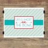 lick the Bowl Wall Quotes™ Giclée Art Print teal