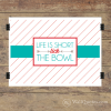 Life is short lick the bowl art print in white