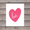 love heart polkadot print