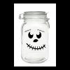 Smiling pumpkin face mason jar
