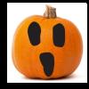Ghostly boo face Pumpkin