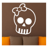 skull decal with bow