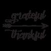 Grateful thankful arrow