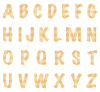 orange all Inset Circles Textstyles™ Canvas Letter Decals
