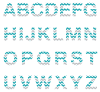 teal all Chevron Textstyles™ Canvas Letter Decals