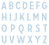 blue all Small Stars Textstyles™ Canvas Letter Decals