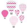 hot air balloon pink textstyles decals