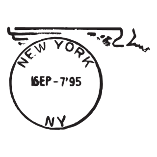 New York NY Sep 95 Postmark Wall Quotes™ Wall Art Decal