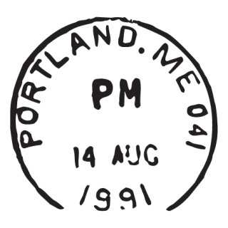 Portland ME Postmark Wall Quotes™ Wall Art Decal