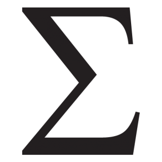 """graphic about Printable Greek Letter Stencils for Shirts referred to as Sigma Uppercase Greek Letter Wall Quotesâ""""¢ Wall Artwork Decal"""