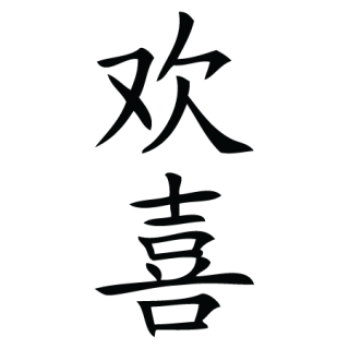Happiness Chinese Symbol Wall Quotes Wall Art Decal