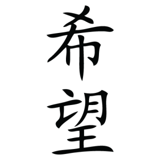 Hope Chinese Symbol Wall Quotes Wall Art Decal