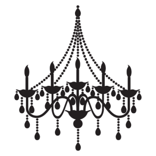 Elegant Chandelier Wall Quotes Wall Art Decal