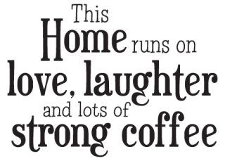 Home Runs On Coffee Whimsical Wall Quotes Decal
