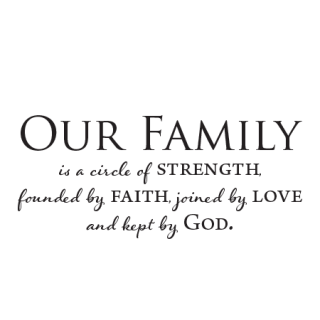 Our Family Is Kept By God Wall Quotes™ Decal | WallQuotes.com