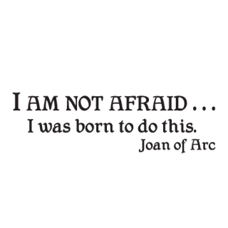 I Am Not Afraid Wall Quotes Decal Wallquotes Com