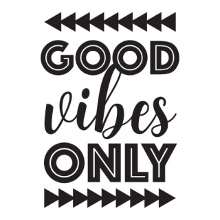 Good Vibes Only Wall Quotes Decal