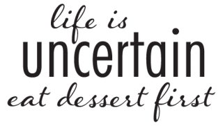 eat dessert first wall quotes decal com