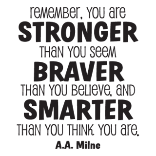 Whimsical Stronger Braver Smarter Wall Quotes Decal Wallquotescom