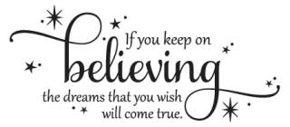 Cinderella Quotes Simple Keep On Believing Wall Quotes™ Decal  Wallquotes