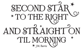 Second Star To The Right Whimsical Wall Quotes Decal Wallquotescom