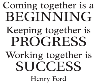 Together Quotes Unique Working Together Is Success Wall Quotes™ Decal  Wallquotes