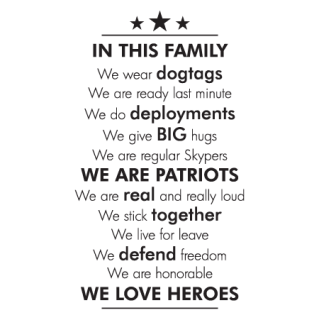 Military In This Family Wall Quotes Decal Wallquotes Com