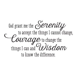 Serenity Prayer Whimsical Wall Quotes™ Decal | WallQuotes.com