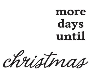 chalkboard days until christmas wall quotes decal
