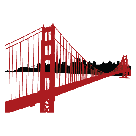 Sf Golden Gate Skyline Wall Quotes Wall Art Decal